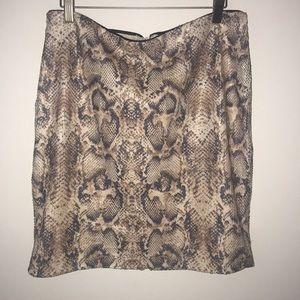 Carmen Marc Valvo Sequined Snakeskin Skirt